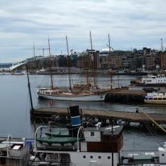 Dans le port d'Oslo..