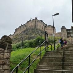 Le fameux château d'Edinburgh que nous n'avons pas visité (même pas approché en fait !)