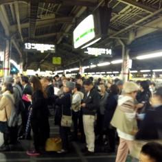 La population dans le métro..